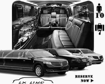 Stretch Limo airport shuttle in Virginia Beach