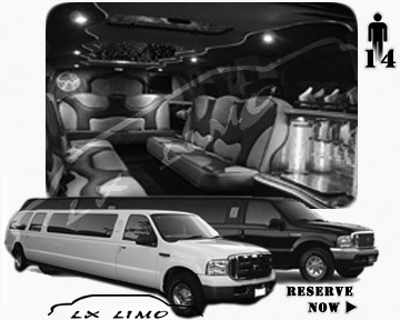 Lincoln Excursion SUV Limo for hire in Virginia Beach VA
